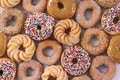 Lots of donuts Royalty Free Stock Photography