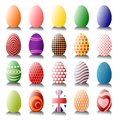 Lots of Easter Eggs Royalty Free Stock Photography