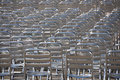 Lots of empty chairs - no audience Royalty Free Stock Photo
