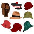 Lots of Hats Set 02 Stock Image