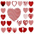 Lots of Heart Designs Set 02 Stock Photos