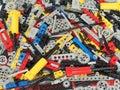 Lots of Lego Technic parts! Royalty Free Stock Photo