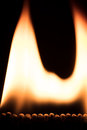 Lots of matches are burning, fire and flame Royalty Free Stock Photo