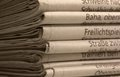 Lots of newspapers full frame background with stacked Royalty Free Stock Image