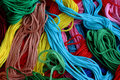 Lots od coloured threads Royalty Free Stock Image