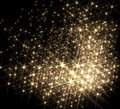 Lots of stars agglomeration with shiny in black back Stock Photography