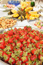 Lots of strawberries on big plate Stock Image
