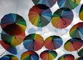 Umbrellas With Rainbow Colors,...