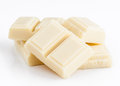 Lots of white chocolate on base Royalty Free Stock Photos