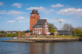 Lotsenhaus seemannshöft hamburg beautiful traditional brick building is an observation tower on seemannshoft at the entrance to Stock Photo