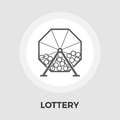 Lotteries vector flat icon