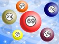 Lottery background with colorful balls