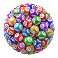 Lottery balls with numbers isolated on white background d illustration Royalty Free Stock Photography