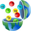 Lotto globe Stock Photography