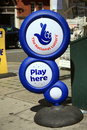 Lotto (National Lottery) 'Play Here' stand Royalty Free Stock Photography