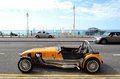 Lotus Cobra car parked in the Brighton's promenade. Royalty Free Stock Photo