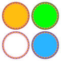 Lotus colorful circle frame vector can be used for border and background Stock Photography