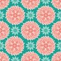 Lotus floral mandalas design in a modern colorful elegant style. Seamless vector repeat pattern