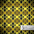 Lotus floral mesh Gold vintage geometric seamless pattern vector