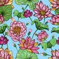 Lotus Floral Seamless Pattern....