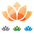 Lotus flower silhouette icon Royalty Free Stock Photo