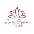 Lotus Flower Yoga Beauty Center Logo Vector
