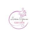 Lotus Flower Yoga Beauty Center Logo Vector Design