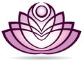 Lotus logo a icon with growing leaves Stock Photo