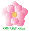 Lotus logo pink flower on white background Royalty Free Stock Photography