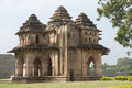Lotus mahal architecture in hampi a world heritage site in india Stock Images