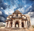 Lotus mahal in hampi royal center at blue overcast sky karnataka india Royalty Free Stock Photography