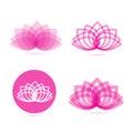 Lotus meditation flower logo pink Royalty Free Stock Photo
