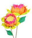 Lotus papers two handcraft flowers Royalty Free Stock Photos