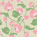 Lotus pattern seamless wallpaper illustrations florals flowers backgrounds beauty blossom buddhism china lowers graphic green head Royalty Free Stock Photography