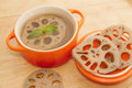 Lotus root dessert natural herb Royalty Free Stock Photos