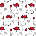 Lotus seamless pattern illustration of Royalty Free Stock Image