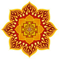 Lotus Sri Yantra Design Royalty Free Stock Photo