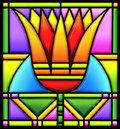 Lotus in stained glass