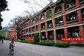 The lotus student dormitory in xiamen university is a historic building which is near lake Royalty Free Stock Photo