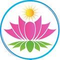 Lotus with sun