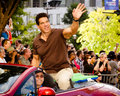Lou Ferrigno waves to the crowd at parade Stock Images