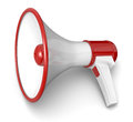 Loud hailer one loudhailer in red and white colors d render Stock Photo