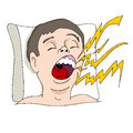 Loud snoring man an image of loudly Royalty Free Stock Image