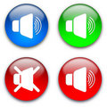 Loud speaker mute buttons Royalty Free Stock Photo