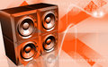 Loud speaker set Stock Image
