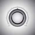 Loudness regulator metal button the Royalty Free Stock Photos