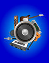 Loudspeaker audio device illustration of with Royalty Free Stock Photo
