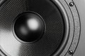 Loudspeaker background black closeup view Stock Image