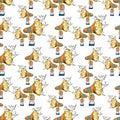Loudspeaker comic book pop art retro style megaphone seamless pattern background design vector illustration. Royalty Free Stock Photo
