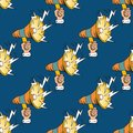 Loudspeaker comic book pop art retro style megaphone seamless pattern Royalty Free Stock Photo